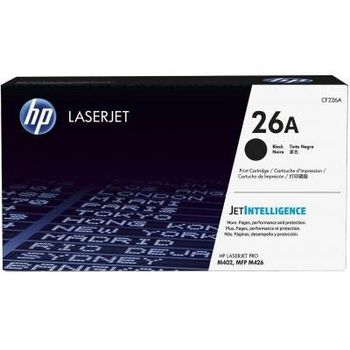 HP 26A Black LJ Toner Cart, str, CF226A