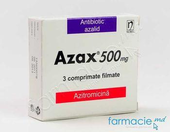 купить Азакс, таблетки в оболочке. 500 мг N 3 (Азитромицин) в Кишинёве