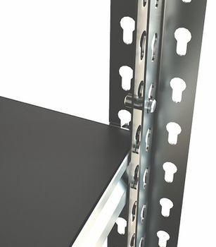 Стеллаж металлический Moduline 900x480x2130 мм,7 полок/0164PE антрацит