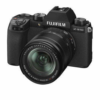 Fujifilm X-S10 black XF18-55mm Kit, Mirrorless Digital Camera Fujifilm X System (Aparat fotografic)