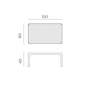 Стол кофейный Nardi NET TABLE 100 BIANCO 40064.00.000 (Стол кофейный для сада лежака террасы балкон)