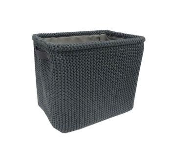 cumpără Coș tricot 360x260x300 mm, negru în Chișinău