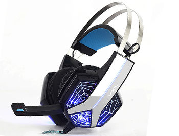 AULA Storm Gaming headset, 20 Hz - 20 kHz, 110+/-3 dB, 32 Ohm, Microphone: -32 dB ± 3 dB, 2m, 2x3.5mm + USB (for illumination) (casti cu microfon/наушники с микрофоном)