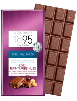 Ciocolată cu lapte alune și rom Weinrichs 1895 100 g