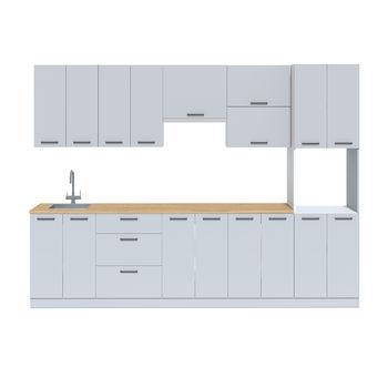 Кухня 3000 МДФ Серый