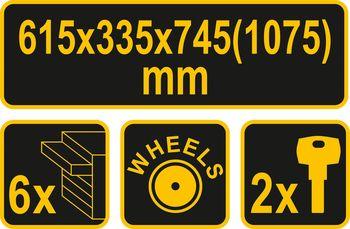 купить Инструментальная тележка Vorel (81830) в Кишинёве