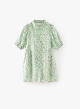 Rochie ZARA Verde cu imprimeu 1171/389/508