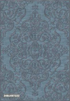 "Ковёр F-SHE 348с497222 ""Темный серо-синий классический орнамент"""