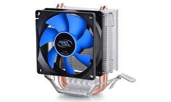 """DEEPCOOL Cooler """"Ice Edge Mini FS V2"""", Socket 1155/775 & FM2/AM3+, up to 100W, 80х80х25mm, 2200rpm, <24.7dBA, 25.1CFM, 3 pin, Hydro Bearing, 2 heatpipes direct contact"""
