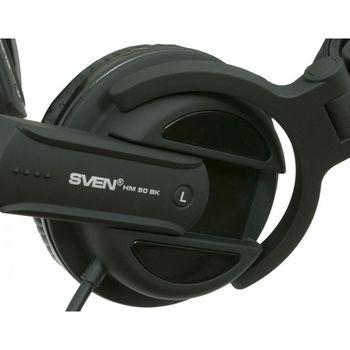 Наушники с микрофоном SVEN HM 80 BK