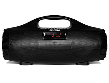 SVEN PS-460 Portable Bluetooth speaker, 18W (2 x 9W), 100Hz–20kHz, LED display, FM-tuner, microSD, USB Flash, Li-Ion 1800 mAh, USB (boxe portabile sistem acustic/колонки портативные акустическая сиситема), www