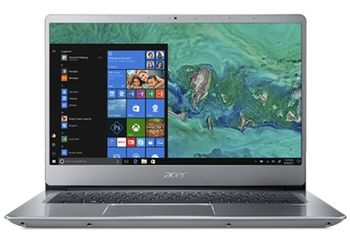 "ACER Swift 3 Sparkly Silver (NX.GXZEU.036), 14.0"" IPS FullHD (Intel® Core™ i3-8130U 3.40GHz (Kaby Lake), 8Gb DDR4 RAM, 256Gb SSD, Intel® UHD Graphics 620, CardReader, WiFi-AC/BT, 4cell, HD Webcam, RUS, Linux, 1.45 qkg, 17.95mm)"