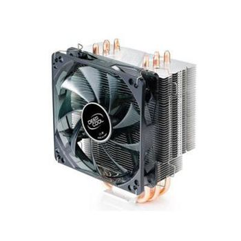 "DEEPCOOL Cooler ""GAMMAXX 400"", Socket 2011/1366/1155/775 & FM1/AM3/AM2+, up to 130W, 120х120х25mm, fan with blue LED, 900~1500rpm, 21.4~32.1dBA, 60.3CFM, 4 pin, PWM, Hydro Bearing, 4 heatpipes direct contact"