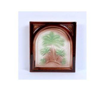 Пальма, плитка цвет коричневый с белым и зелёным