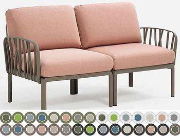 Canapea cu 2 locuri pentru exterior Nardi KOMODO 2 POSTI acrilic fabric (32 combinatii de culori)
