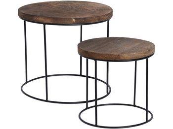 Набор столов из древесины манго D31X28, D25X24cm, ножки мет