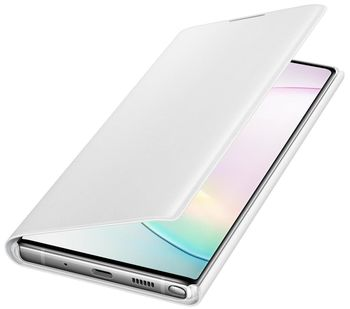 купить Чехол для моб.устройства Samsung Galaxy Note 10 Plus ,EF-NN975 LED View Cover White в Кишинёве