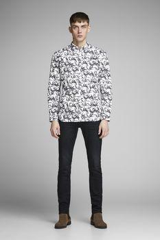 Рубашка JACK&JONES Белый с принтом 12148054