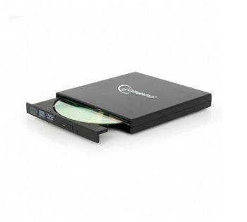 External DVDRW Drive Gembird  DVD-USB-02, Portable-17mm, CDR/RW +24x/-24x, DVDR+8x/-8x, RW+6x/-6x, DL+6x, RAM 5x, USB2.0, Black, Retail
