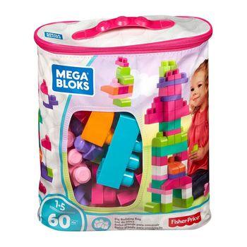 Конструктор розовый в мешке (60 дет.) Mega Bloks, код DCH54