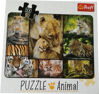 "Пазлы ""500"" - Wild cats, код 43179"