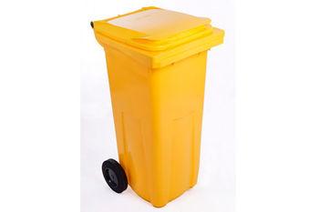 Мусорный бак Plastic G yellow 120 л