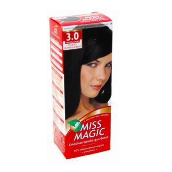 Краска для волос,SOLVEX Miss Magic, 90 мл., 3.0 - Натуральный тёмно-коричневый