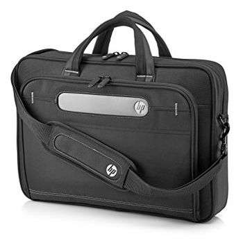 """HP NB bag 15,6' Business Top Load Case soft interior tablet pocket holds a tablet up to 10.6"""". The convenient outer pockets with slip and zip designs give quick access to frequently-used items. (41.28 x 29.20 x 8.90 cm, Black"""