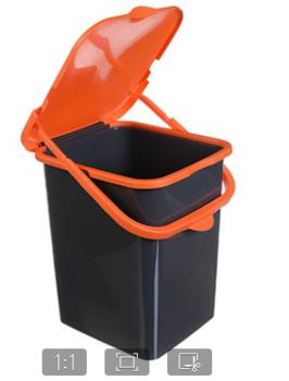 купить М 2475 - Контейнер для мусора ПУРО 18л в Кишинёве