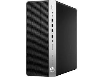 HP EliteDesk 800 TWR G4 +W10Pro lntel® Core® i5-8500 (Six Core, up to 4.1GHz, 9MB), 8GB DDR4 RAM, 256GB PCIe NVMe SSD, DVD-RW, Intel® UHD 630 Graphics, 2*DP 1.2, USB-C, 250W 92% efficiency PSU, USB MS&KB, Win 10 Pro, Black