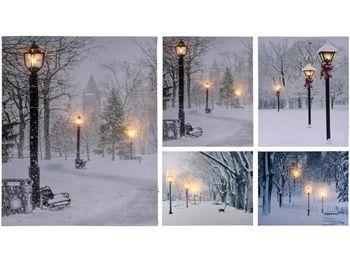 "купить Картина LED ""Зимний вечер в парке"" 50X40cm в Кишинёве"