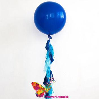 купить Большой латексный синий шар 91 см с гирляндой тассел в Кишинёве