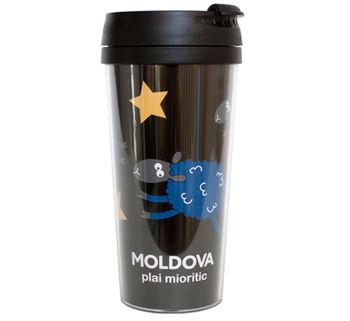 купить Кружка-термо – Moldova plai mioritic (black) в Кишинёве