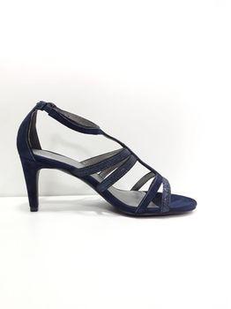 Босоножки UN 1 DEUX 2 TROIS 3 Синий 123paris suede GLITTER dark blue