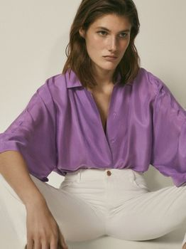 Блуза Massimo Dutti Фиолетовый 5172/573/628