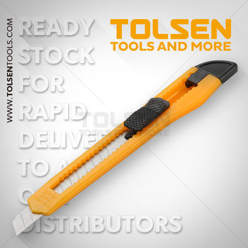 купить Нож с отламывающимся лезвием  9мм пластик Tolsen в Кишинёве