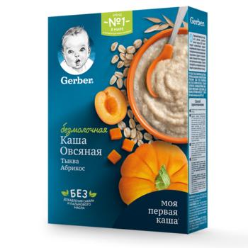 Каша овсяная без молока тыква-абрикос Gerber, с 5 месяцев, 180г