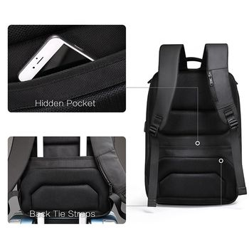 """cumpără Rucsac Aoking SN77880A pentru laptop de pina la 15.6"""", cu USB-port, impermiabil, negru în Chișinău"""