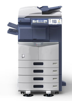 MFP Toshiba E-STUDIO 256, Mono Copier,Net Printer _Color Scanner,Duplex, A3,16ppm,A4,25ppm, 2400x600dpi, 25–400%,52-209g,m2, 1Gb,160Gb,2x550-sheet Cassette,100k pag per month,Set :Drum OD-4530_100k pag,Devel D-4530_100k pag,Toner T-4590E_36600 pag A4