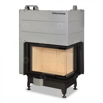 купить Каминная топка - ROMOTOP серии HEAT HL2LG 01/HR2LG 01 - конвекционная угловая, с подъёмной дверцей и цельногнутым стеклом (левая, правая) в Кишинёве