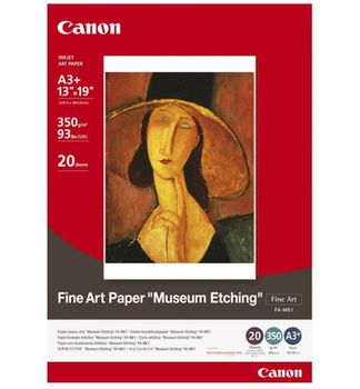 """Paper Canon FA-ME1, A3, (297x420mm), Fine Art """"Museum Etching"""", 350 g/m2, 93Ibs (us), 20 pages"""