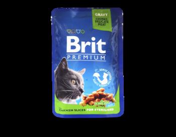 купить Brit Premium Cat Pouches Chicken Slices for Sterilised (Кусочки c курицей. Влажный корм класса премиум для кастрированных котов и стерилизованных кошек) в Кишинёве