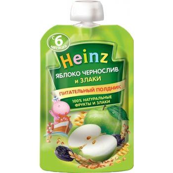 купить Heinz пюре яблоко, чернослив и злаки, 6+мес. 90г в Кишинёве