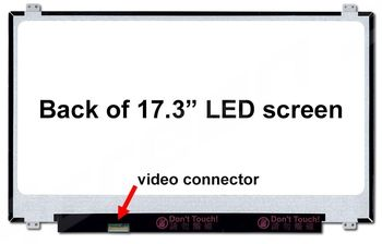 "Display 17.3"" LED IPS Slim 30 pins Full HD (1920x1080) Socket Left-Side Brackets Up-Down Matte LG LP173WF4(SP)(F1), N173HCE-E31"