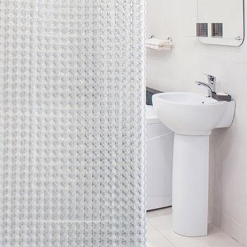 купить Шторка для ванной Tatkraft Chrystal 3D 180 см х 180 см 18129 в Кишинёве