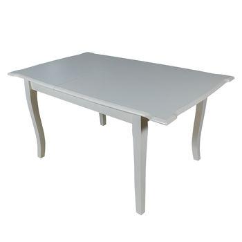 Раздвижной стол T751E 1.2м-1.5м слоновая кость