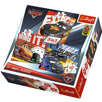 "34819 Puzzles - ""3-in-1"" - After the race/Disney Cars 2"