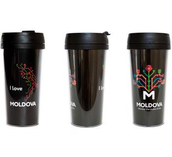 cumpără Cana Termo – I love Moldova (black) în Chișinău