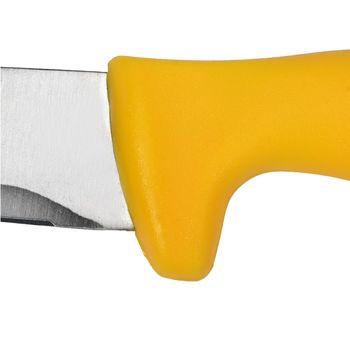 купить Нож с зубами для сырой птицы 250 мм, желтый в Кишинёве