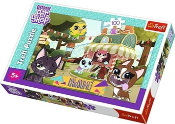 """Пазлы """"100"""" - Playing in the park / Hasbro, Littlest Pet Shop, код 42128"""